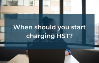 When should you start charging HST